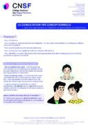 Vignette du pdf consultation preconceptionelle