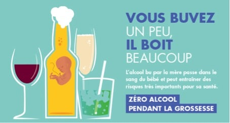 """"""" Zéro alcool pendant la grossesse """" : un message toujours d'actualité"""